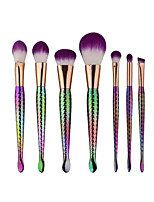 7 Contour Brush Makeup Brush Set Blush Brush Lip Brush Concealer Brush Powder Brush Foundation Brush Synthetic Hair Professional Plastic