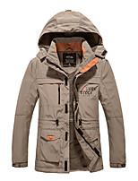 Men's Jacket Waterproof Thermal / Warm Windproof Fall/Autumn Winter Green Gray Black Blue