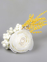 Wedding Flowers Free-form Roses Boutonnieres Wedding Party/ Evening White Satin