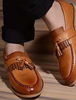 Men's Boots Spring T-Strap Rubber Casual Flat Heel Walking
