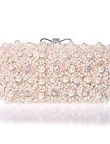 L.WEST hand bag diamond diamond Chiffon Evening Bag