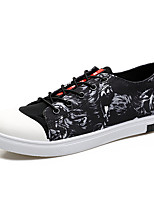 Men's Sneakers Spring Summer Other Canvas Casual Lace-up Black Red
