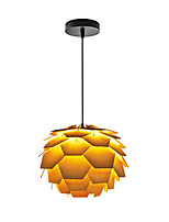 E27 D-01L Modern LightsLayered Wood Artichoke Ceiling Pendant Light
