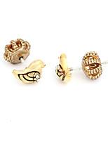 Boucles d'oreille goujon Cristal Animal Mode Personnalisé euroaméricains Or Bijoux Pour Mariage Soirée Anniversaire 1 paire