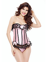 Women's Corset Set Plus Size Nightwear,Sexy Lace Color Block-Medium Others Women's