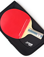 5 Stars Ping Pang/Table Tennis Rackets Ping Pang Wood Short Handle Pimples Indoor Performance Practise Leisure Sports-#