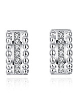 Stud Earrings AAA Cubic ZirconiaBasic Unique Design Rhinestone Geometric Square Friendship Turkish Gothic Cute Style Euramerican