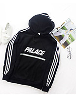 Men's Casual/Daily Hoodie Letter Round Neck Micro-elastic Nylon Long Sleeve Spring