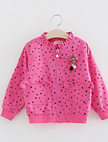 Girls' Casual/Daily School Solid Suit & Blazer,Cotton Spring Long Sleeve