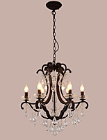 LightMyself 6 Lights Crystal Chandelier Modern/Contemporary Traditional/Classic Rustic/Lodge Tiffany Vintage Retro Lantern Drum Country Painting