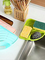Kitchen Sink Multi-functional Rack Sponge Drop Cup Brush Sundry Receive Plastic Shelf  Color Random