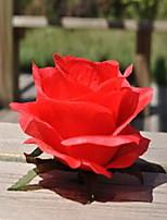1 Ramo Plástico Rosas Flor de Mesa Flores artificiais 8*8*6