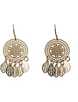 Drop Earrings Alloy Fashion Euramerican Circle Leaf Gold Jewelry Wedding Party Halloween Daily Casual Sports 1 pair