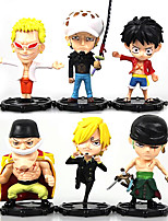 Anime Toimintahahmot Innoittamana One Piece Monkey D. Luffy PVC 10 CM Malli lelut Doll Toy
