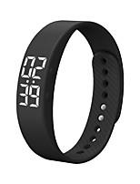 realtime moda do bluetooth smartwatch mostrando pulseira inteligente à prova de água levou homens de tela de fitness Sports Tracker sono