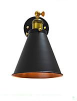 Ac220v-240v 4w e27 llevó la lámpara ligera del lightsaber del negro de la pared de la pared del hierro de la pared de la pared del zumbido