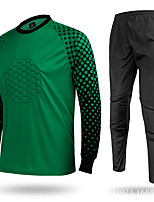 OUTTO® Men's Long Sleeve Soccer Tops Bottoms Breathable Yellow Green Red Leisure Sports L XL XXL XXXL