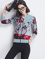 Women's Going out Casual/Daily Club Regular Cardigan,Solid Asymmetrical Long Sleeve Cotton All Seasons Medium Micro-elastic