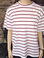 Sign college wind was thin stripes loose T-shirt