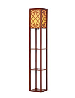 Nut-brownFloor Lamp for Multifunctional Goods Racks with on/off Switch