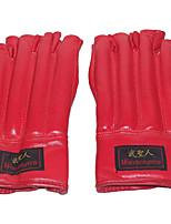 Боксерские перчатки для Бокс Без пальцев Защитный PU Черный Красный