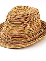 Femme Rétro Décontracté Paillette Chapeau de Paille,Mosaïque Eté