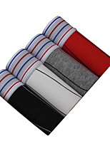 4 Pcs/Lot Men's Fashion Sexy Striped Printed Boxers Underwear Cotton Soft Panties