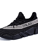 Men's Sneakers Spring Summer Comfort Light Soles Tulle Outdoor Casual Athletic Running Flat Heel Lace-up Gray Black/Red Black/White