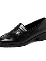 Feminino-Saltos-Sapatos clube-Salto Grosso Salto de bloco-Preto Bege Vinho-Couro Ecológico-Escritório & Trabalho Social Casual