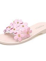 Women's Slippers & Flip-Flops Spring Summer Comfort Novelty Customized Materials Office & Career Dress Casual Flat Heel Flower