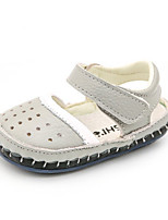 Girls' Sandals Summer First Walkers Synthetic Casual Flat Heel Blue Yellow Gray