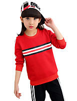 Girls' Going out Casual/Daily Sports Striped Print Sets,Cotton Spring Fall Long Sleeve Clothing Set