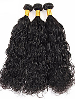 Natural Color Hair Weaves Malaysian Texture Water Wave 12 Months 3 Pieces hair weaves