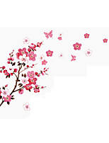 Peach Vine Brances Wall Stickers Peach Blossom Flowers Florals Wall Decals /Stickers Home Decoration For Family