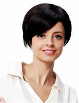 Popular Black Color Straight Wigs European Synthetic Wigs