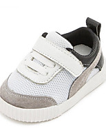 Girls' Baby Flats First Walkers Tulle Spring Fall Casual First Walkers Flat Heel White Black Ruby Flat