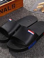 Men's Slippers & Flip-Flops Spring Comfort PU Casual Flat Heel White Black Blushing Pink