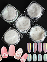 5 bottle/set Fashion Style Candy Colors Nail Art Glitter DIY Beauty Sugar Coating Holographic Pigment Shining Powder Sweet Decoration TY01-05