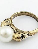Bandringe Ring Stulpring Imitierte PerlenBasis Einzigartiges Design Logo Stil Freundschaft Inspirationen individualisiert Hip-Hop Rock