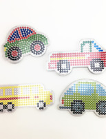 3PCS 5MM Fuse Beads Template Clear Pegboard Colorful Car Truck School Bus Pegboard DIY Jigsaw for 5mm Fuse Beads(Random Mixed Shape)