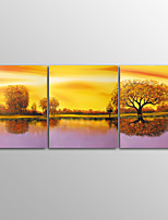 Canvas Print Abstract Modern TreeThree Panels Canvas Horizontal Print Wall Decor For Home Decoration