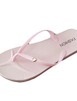 -Для женщин-Повседневный-Полиуретан-На плоской подошве-Удобная обувь-Тапочки и Шлепанцы