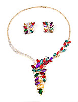 Gold Silver Plated Red Crystal Necklace Earrings Set African Beads Wedding Bridal Party Jewelry Sets
