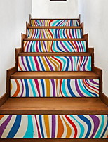 6pcs per Set Staircase Landscape Wall Stickers 3D Wall Stickers Decorative Wall StickersVinyl Material Home Decoration Wall Decal