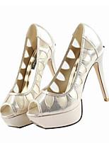 Mulheres sapatos de verão slingback PU casual preto ouro
