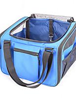 Chat Chien Sac de transport Animaux de Compagnie Transporteur Portable Respirable Solide Bleu