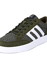 Men's Sneakers Spring Summer Fall Winter Comfort Twill Outdoor Athletic Casual Lace-up Red Army Green Black Walking