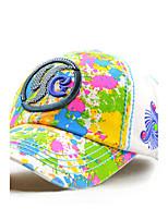 Unisex Women Men's Cotton Baseball/Peaked/Alpine Cap Sun Hat Casual Embroidery Rainbow Print Outdoors Sports Summer White/Purple/Orange/Beige/Blue