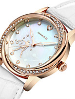 Women's Fashion Watch Quartz Leather Band White Red Pink Purple