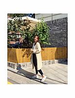 Women's Casual/Daily Sexy Long Cardigan,Solid Asymmetrical Long Sleeve Acrylic Fall Medium Stretchy